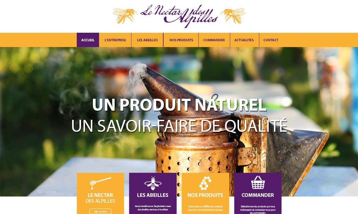 Nouveau site Internet pour le Nectar des Alpilles